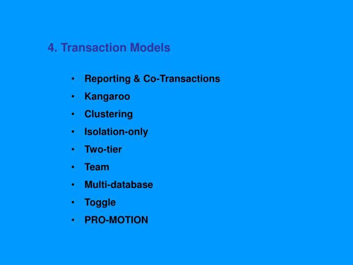 4. Transaction Models