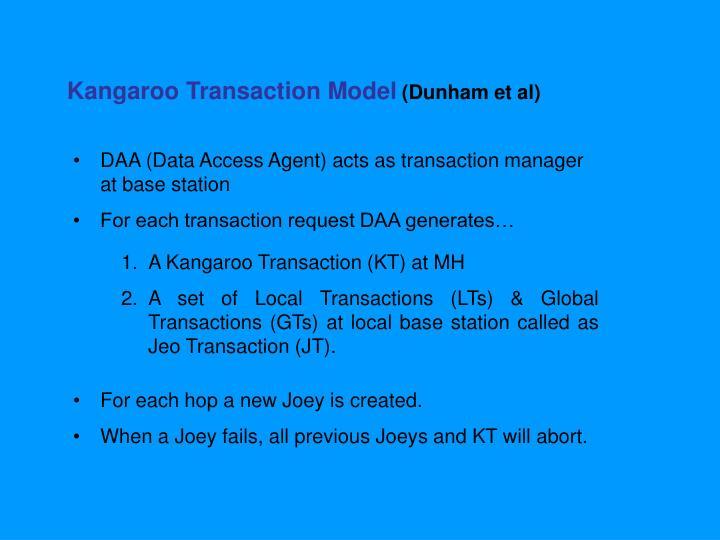 Kangaroo Transaction Model