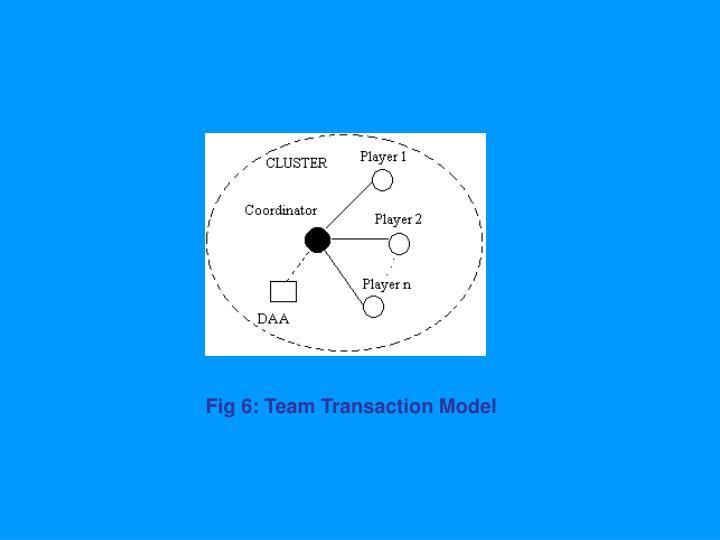 Fig 6: Team Transaction Model