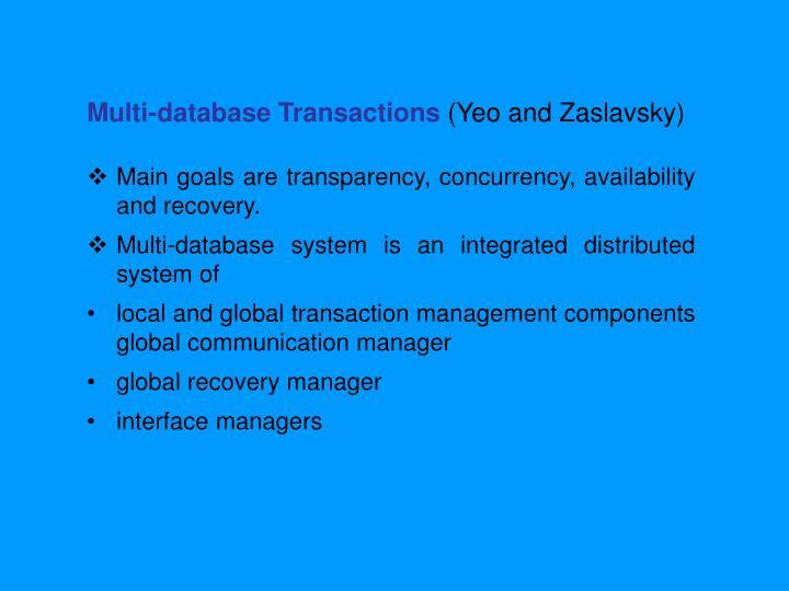 Multi-database Transactions