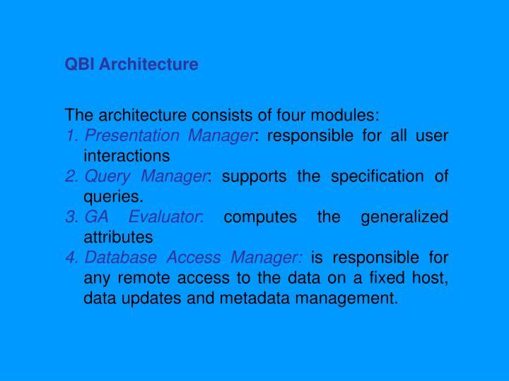 QBI Architecture