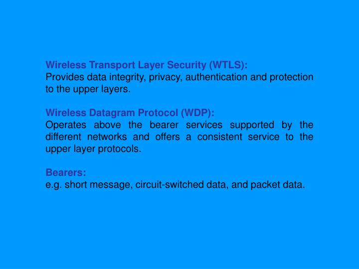 Wireless Transport Layer Security (WTLS):