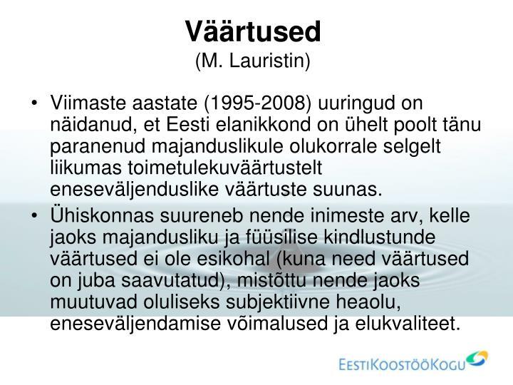 Väärtused