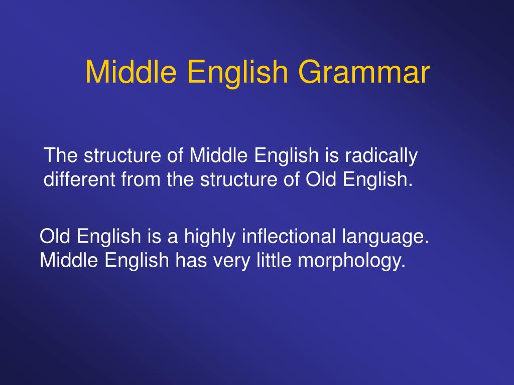 Middle English Grammar