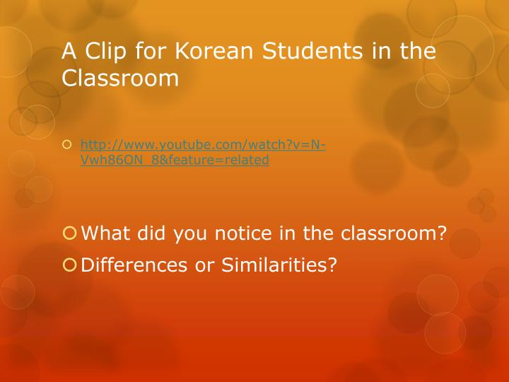 A Clip for Korean Students in the Classroom