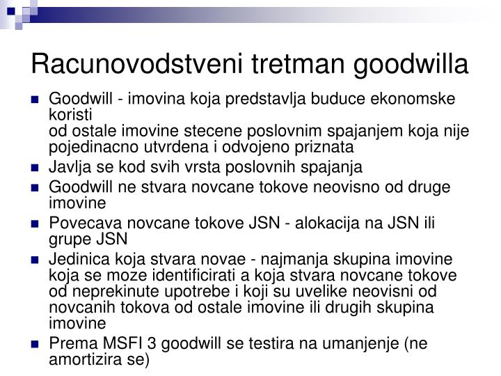 Racunovodstveni tretman goodwilla