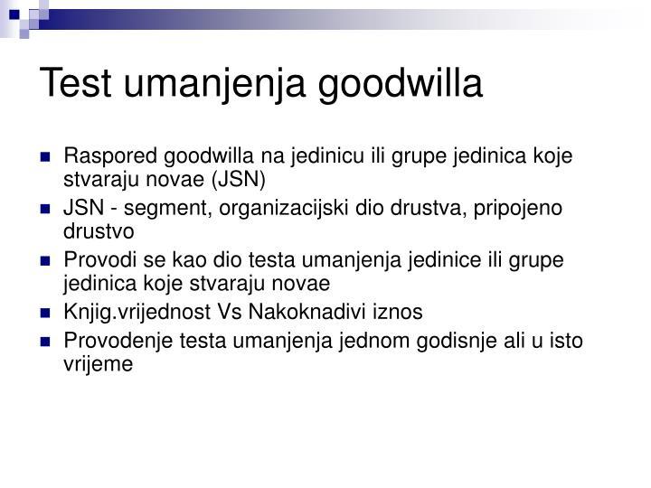 Test umanjenja goodwilla