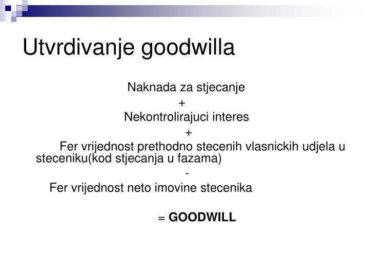 Utvrdivanje goodwilla