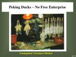 peking ducks no free enterprise