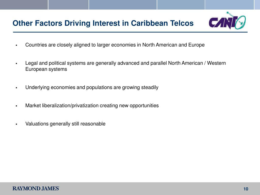 Other Factors Driving Interest in Caribbean Telcos