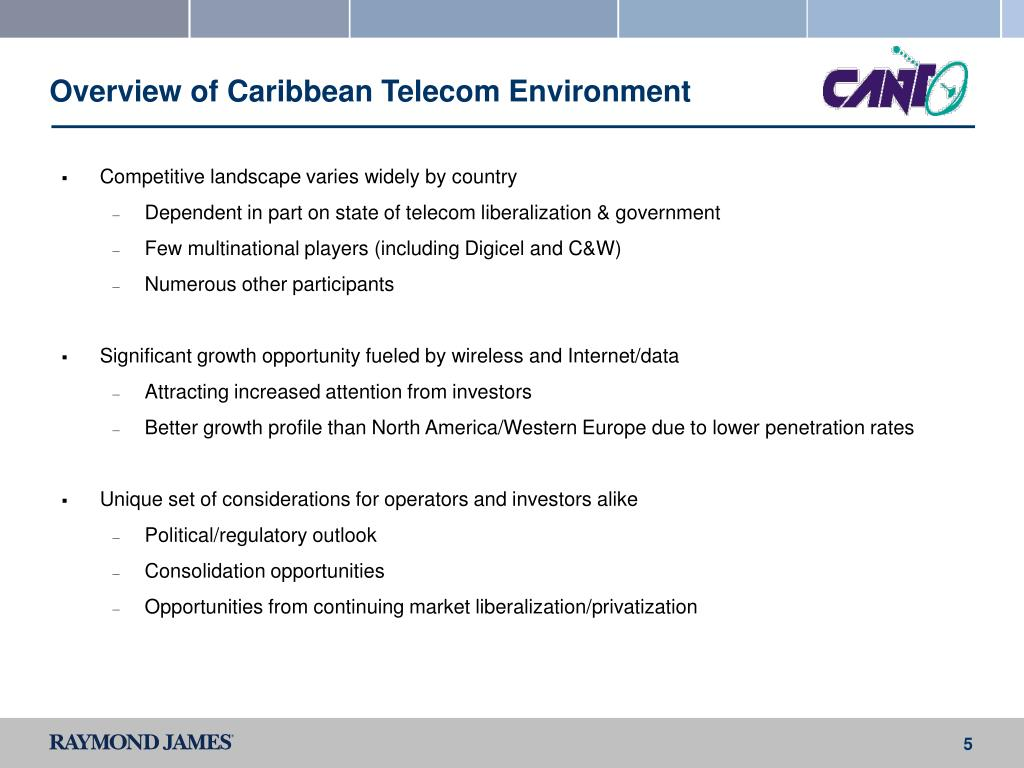 Overview of Caribbean Telecom Environment