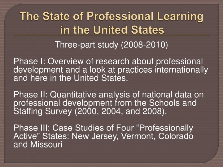 The State of Professional Learning