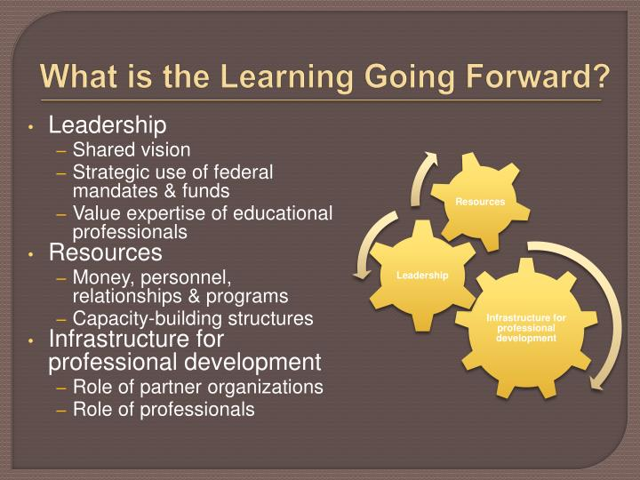 What is the Learning Going Forward?