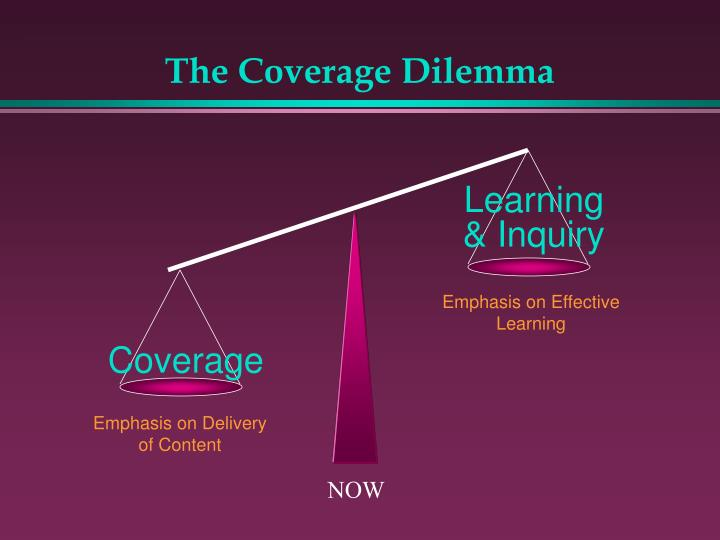 The Coverage Dilemma