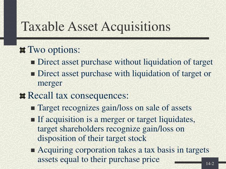 Taxable Asset Acquisitions