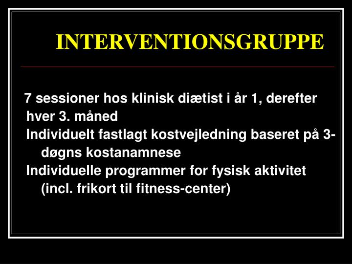 INTERVENTIONSGRUPPE