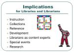 implications for libraries and librarians