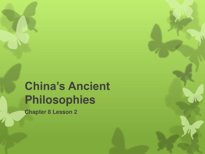 China's Ancient Philosophies