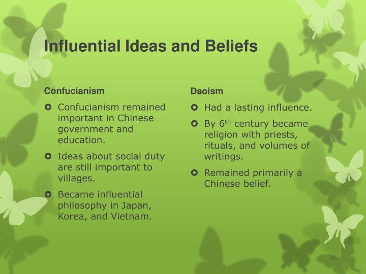 Influential Ideas and Beliefs