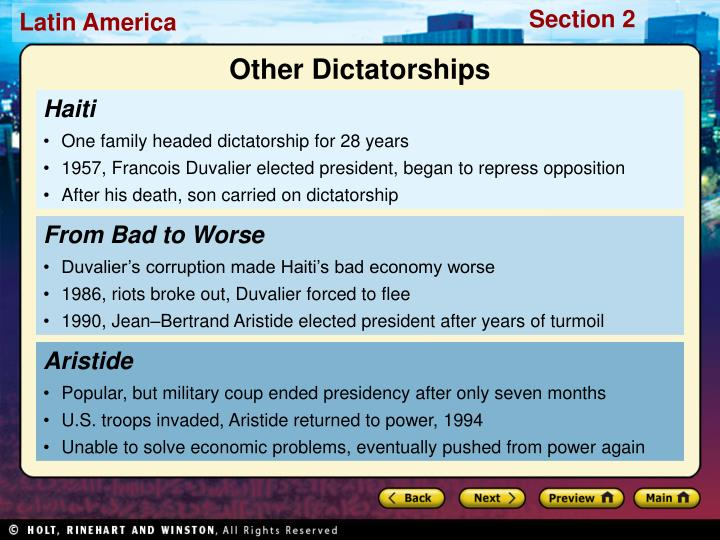 Other Dictatorships