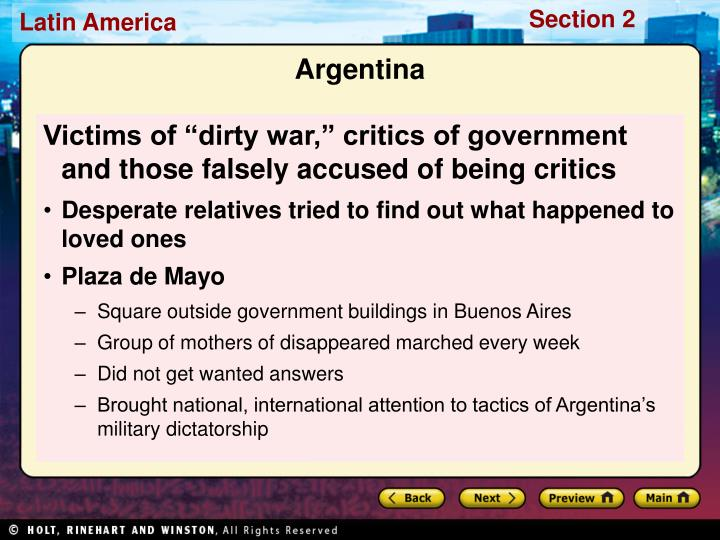 """Victims of """"dirty war,"""" critics of government and those falsely accused of being critics"""