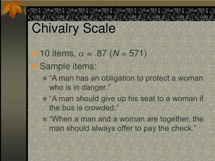 Chivalry Scale