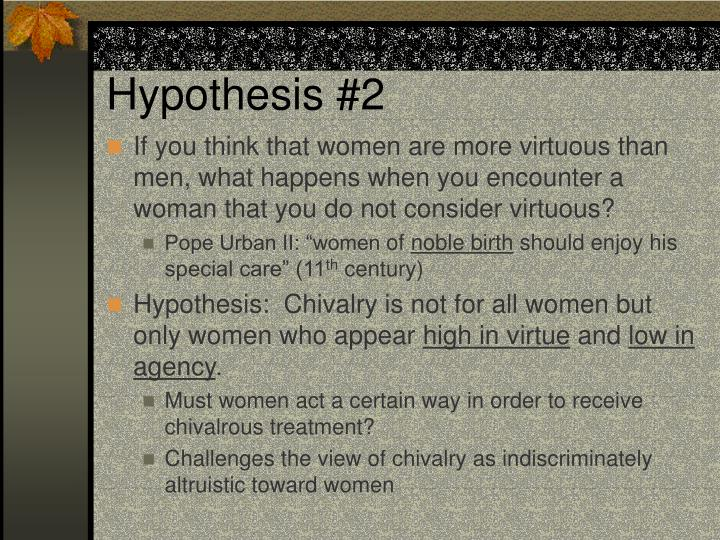 Hypothesis #2