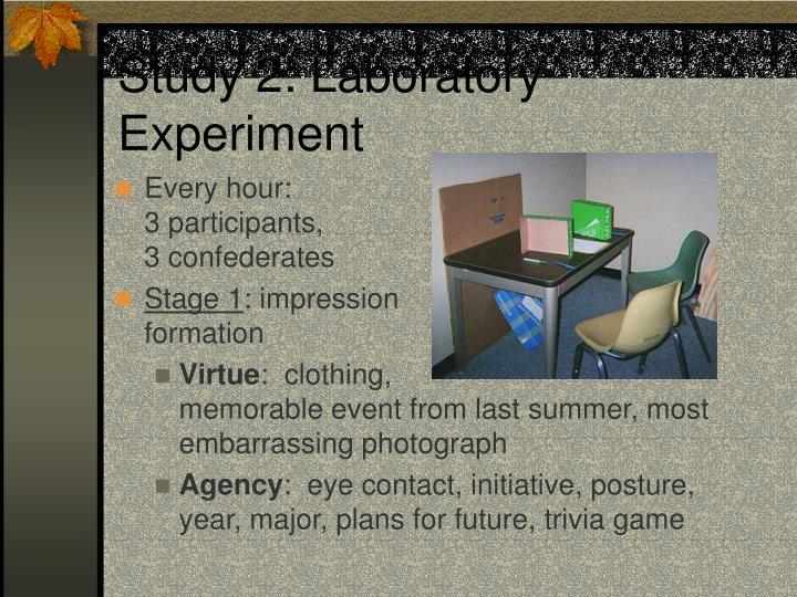 Study 2: Laboratory Experiment
