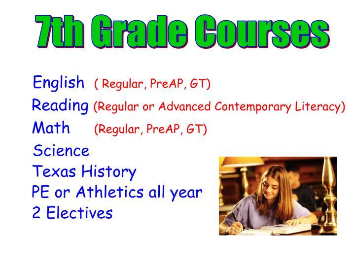 7th Grade Courses