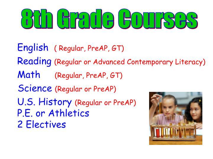 8th Grade Courses