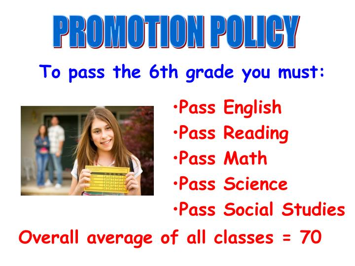 PROMOTION POLICY