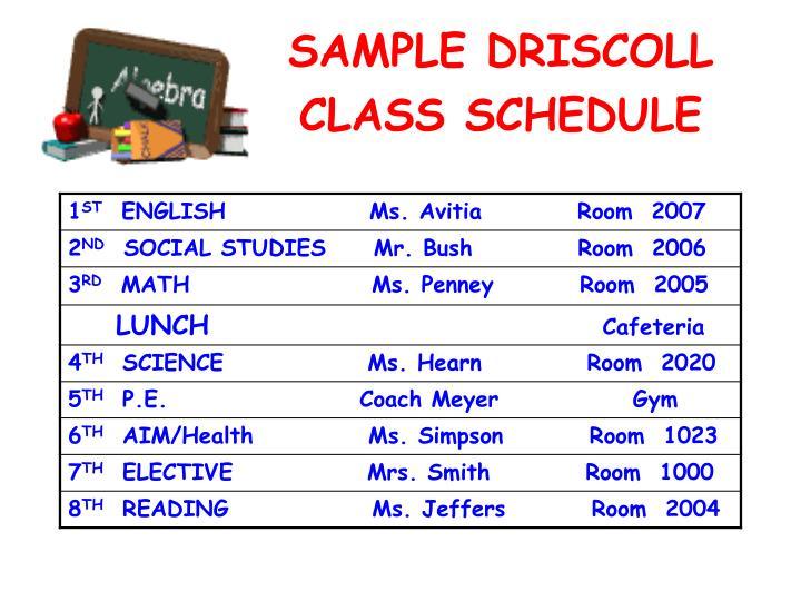SAMPLE DRISCOLL