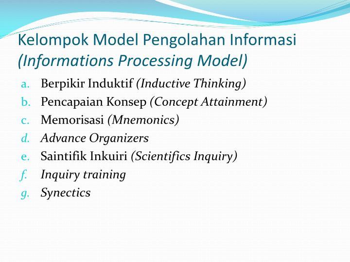 Kelompok Model Pengolahan Informasi