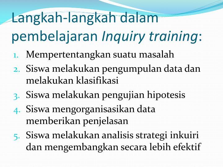 Langkah-langkah dalam pembelajaran