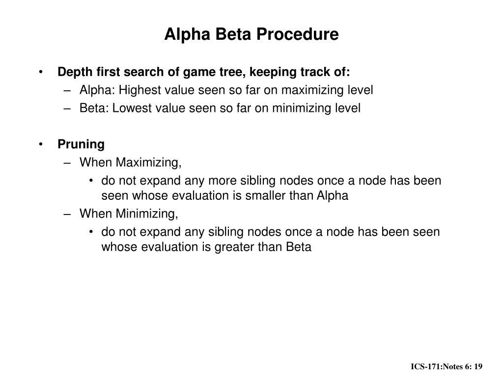 Alpha Beta Procedure