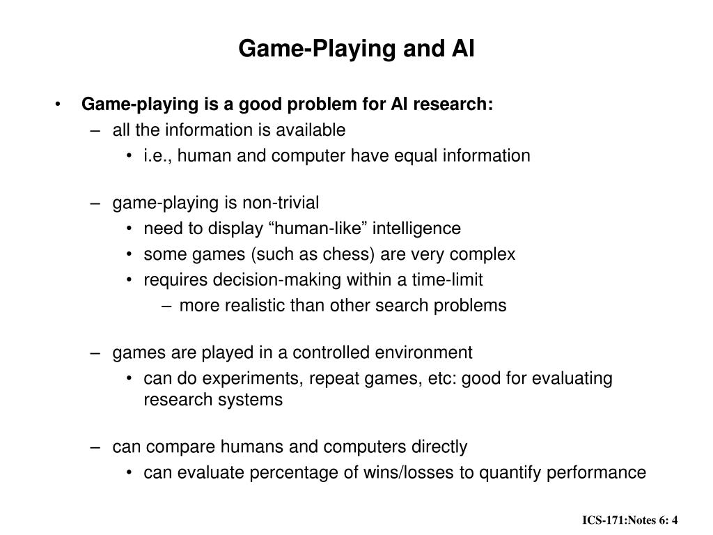 Game-Playing and AI