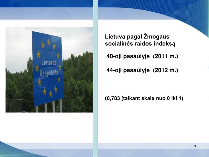 Lietuva pagal Žmogaus socialinės raidos indeksą