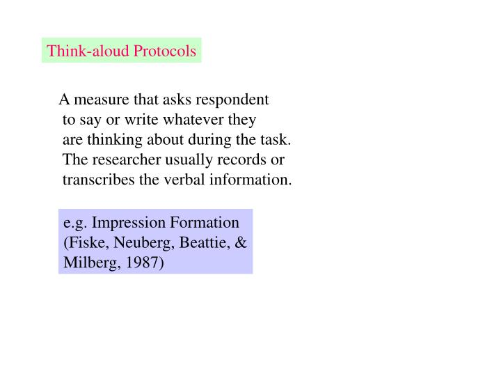 Think-aloud Protocols