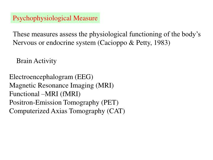 Psychophysiological Measure