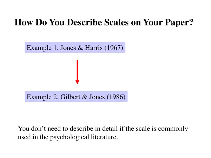How Do You Describe Scales on Your Paper?