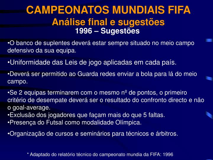CAMPEONATOS MUNDIAIS FIFA