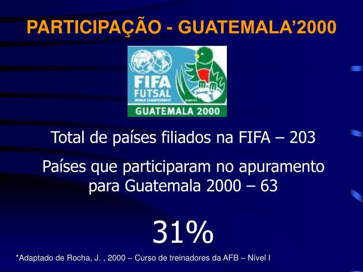 PARTICIPAÇÃO - GUATEMALA'2000