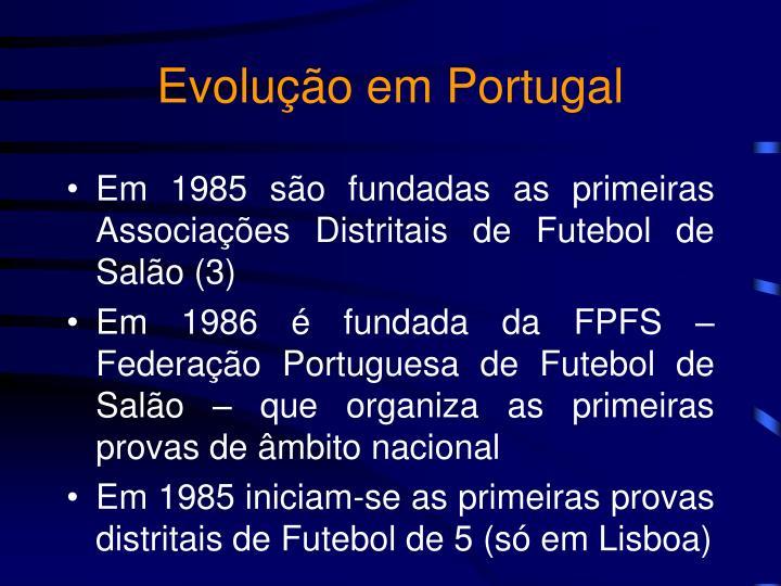 Evolução em Portugal