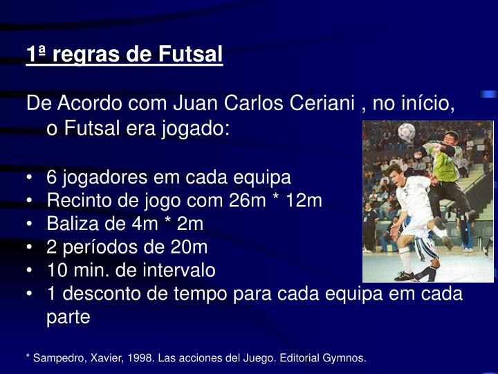 1ª regras de Futsal