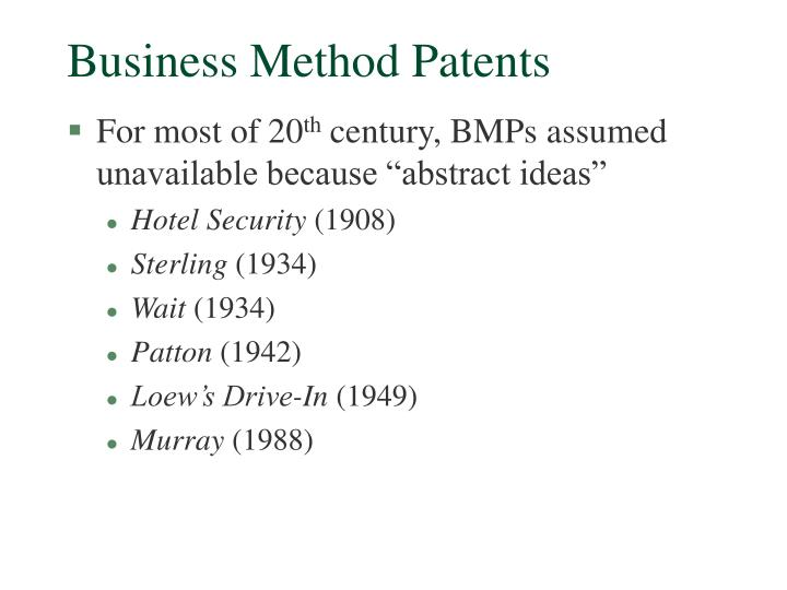 Business Method Patents