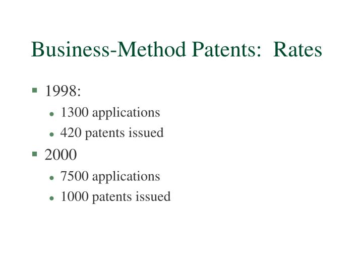 Business-Method Patents:  Rates