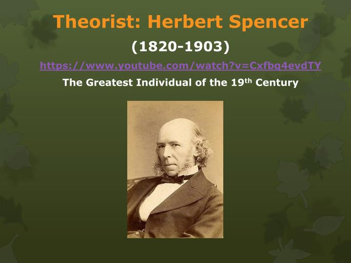 Theorist: Herbert Spencer