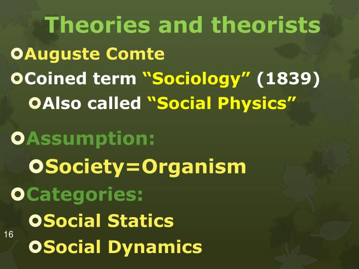 Theories and theorists