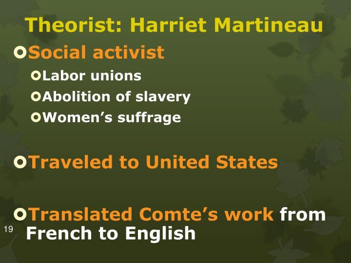 Theorist: Harriet Martineau