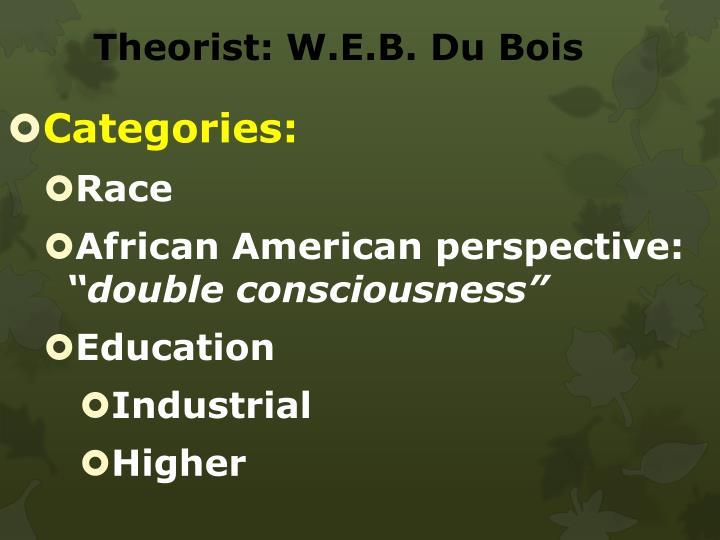 Theorist: W.E.B. Du Bois